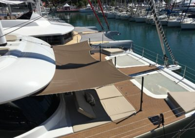Sunreef 50 catamaran sunbathing