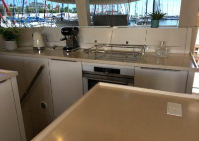 Sunreef 50 indoor catamaran kitchen