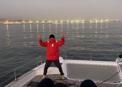 catamaran night sailing