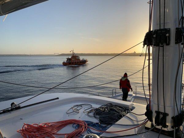 training course learn to sail in couple catamaran Sunreef